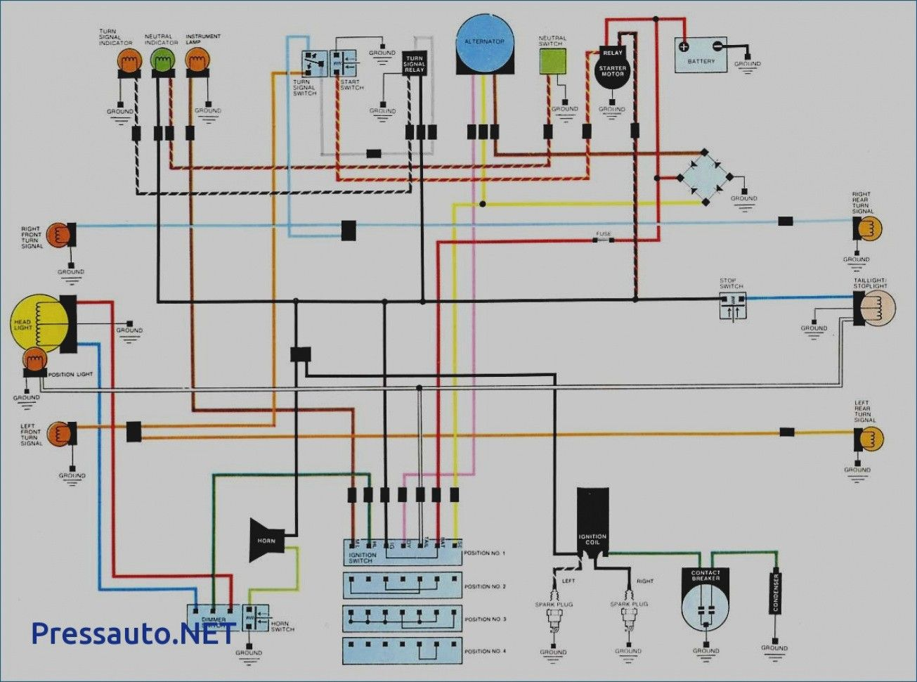 15 Simple Wiring Diagram Of Motorcycle Honda Xrm 125 Technique   S     Bacamajalah Com  15