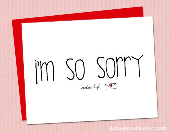 INSTANT PRINT Iu0027m Sorry Card - So Sorry Card, Sympathy Card, Pet - free printable apology cards