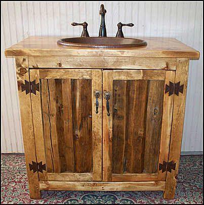 rustic vanity cabinets for bathrooms. Rustic Bathroom Vanity  with sink Copper Cabinet Sink rustic bathroom vanities Home improvment Pinterest