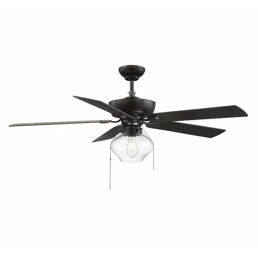 52 Lundy 5 Blade Standard Ceiling Fan With Pull Chain And Light Kit Included Ceiling Fan With Light Farmhouse Ceiling Fan Living Room Ceiling Fan
