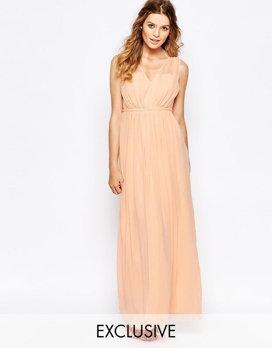 Vila – Maxikleid mit Taillenband | Dress. Kleid. Pastell ...