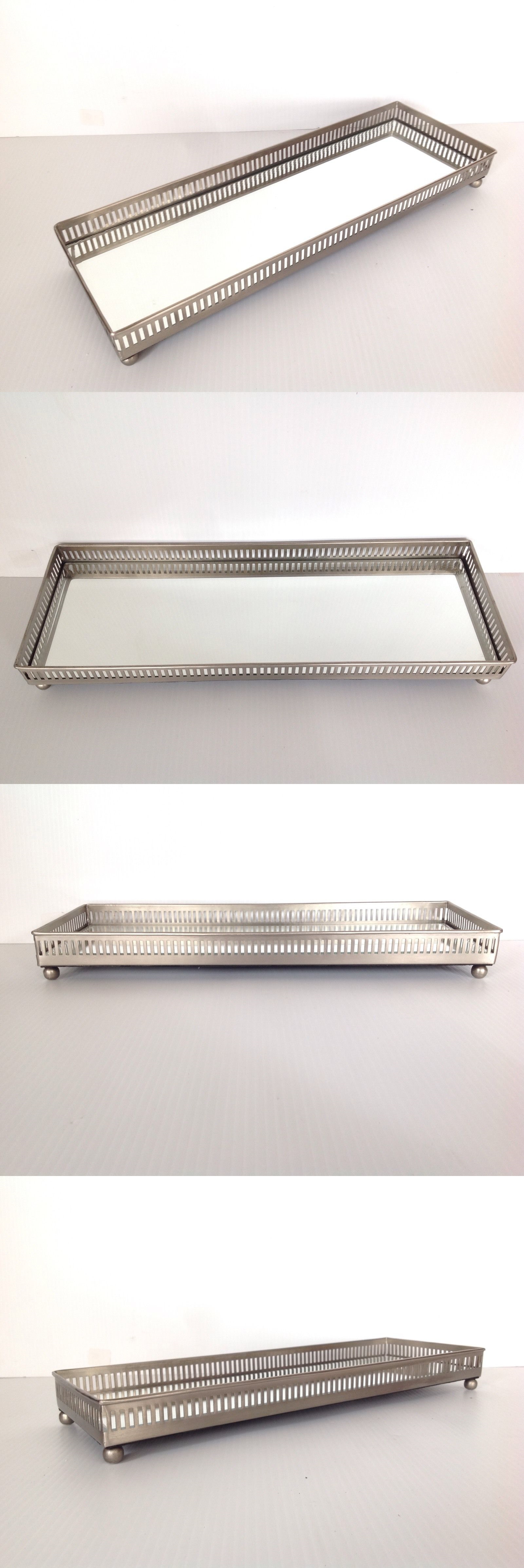 Other Jewelry Organizers 164372 Pottery Barn Mirrored Dresser Top Tray Large Size New Free Shipping
