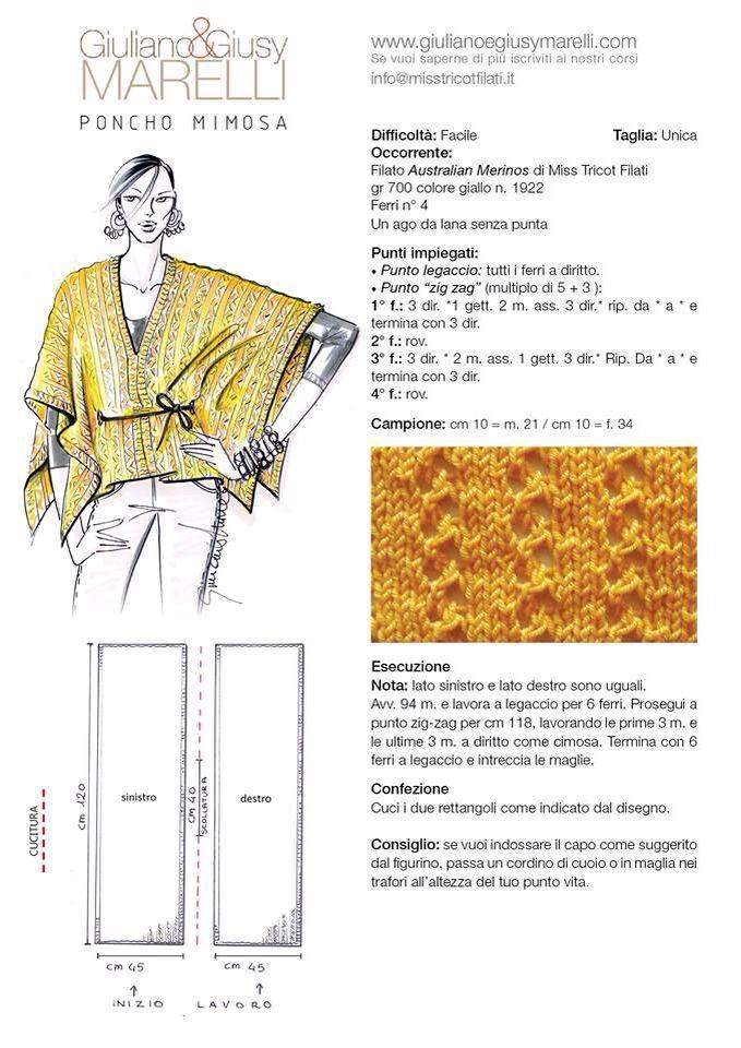 Pin de lisa esmer en knitting | Pinterest | Ponchos, Tejido y Chal
