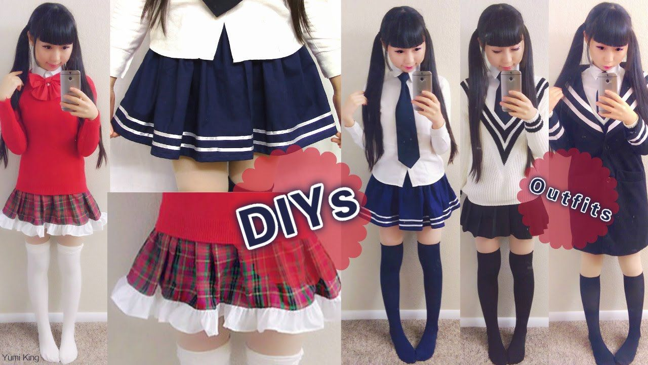 Diy daily anime japanese school uniforms for beginners