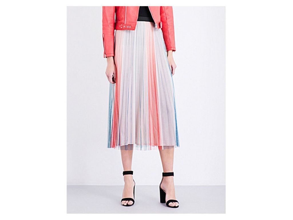 4040872a2428 MAJE Jonaelo pleated chiffon skirt | Women's Fashion | Chiffon skirt ...