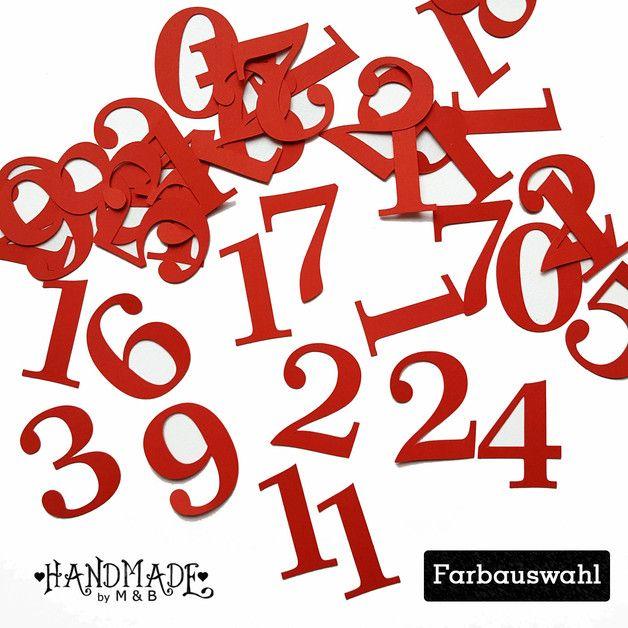Adventskalenderzahlen   24 wunderschöne Zahlen perfekt für den Adventskalender - ob Tüten oder Stoffsäckchen, Geschenke oder ....  Du bekommst: Ein Set aus 24 Zahlen (1 bis 24)   _**Farbe:...