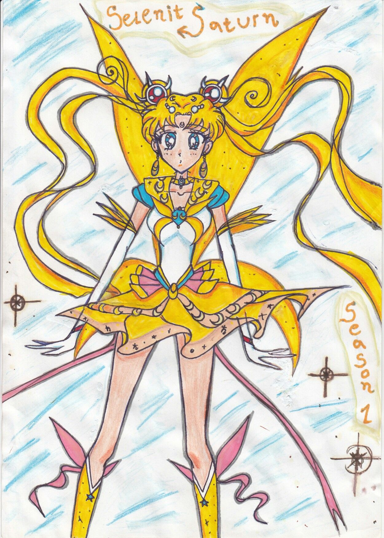 saturn fantasy mahoushoujo sailormoon anime