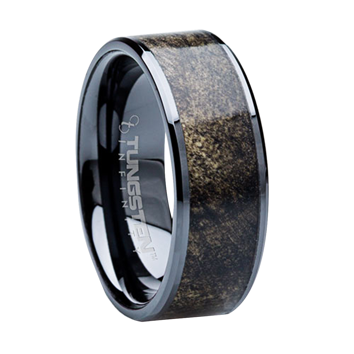 8 mm unique mens wedding bands titanium buckeye wood for Mens wedding rings tungsten