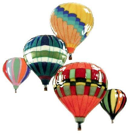 Five Balloons In Flight Wall Sculpture Albuquerque Colors Wall