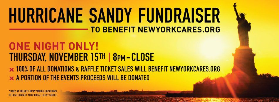 Fundraiser for Sandy Victims