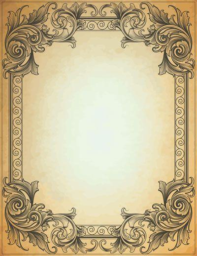 Vintage Frame Vintage Frames Brevpapir Baggrunde