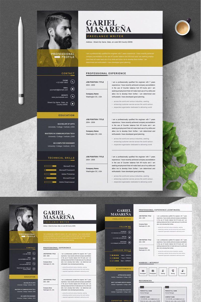 Epingle Sur Resume Design Inspiration