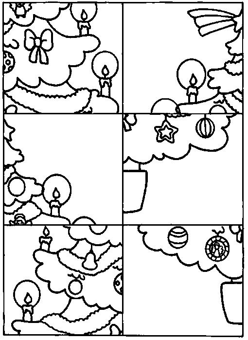 werkblad motoriek kerst puzzel thema s december