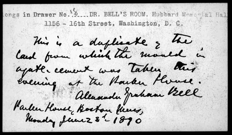 Postcard from alexander graham bell june 23 1890 postcards postcard from alexander graham bell june 23 1890 m4hsunfo