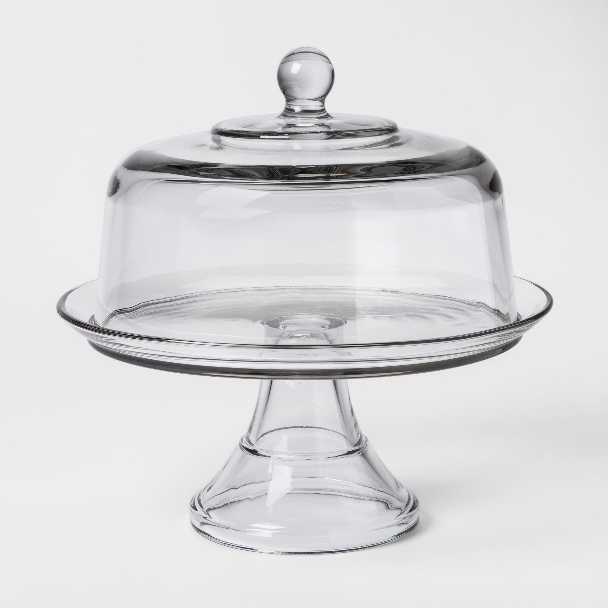 Classic glass cake stand with dome threshold cake