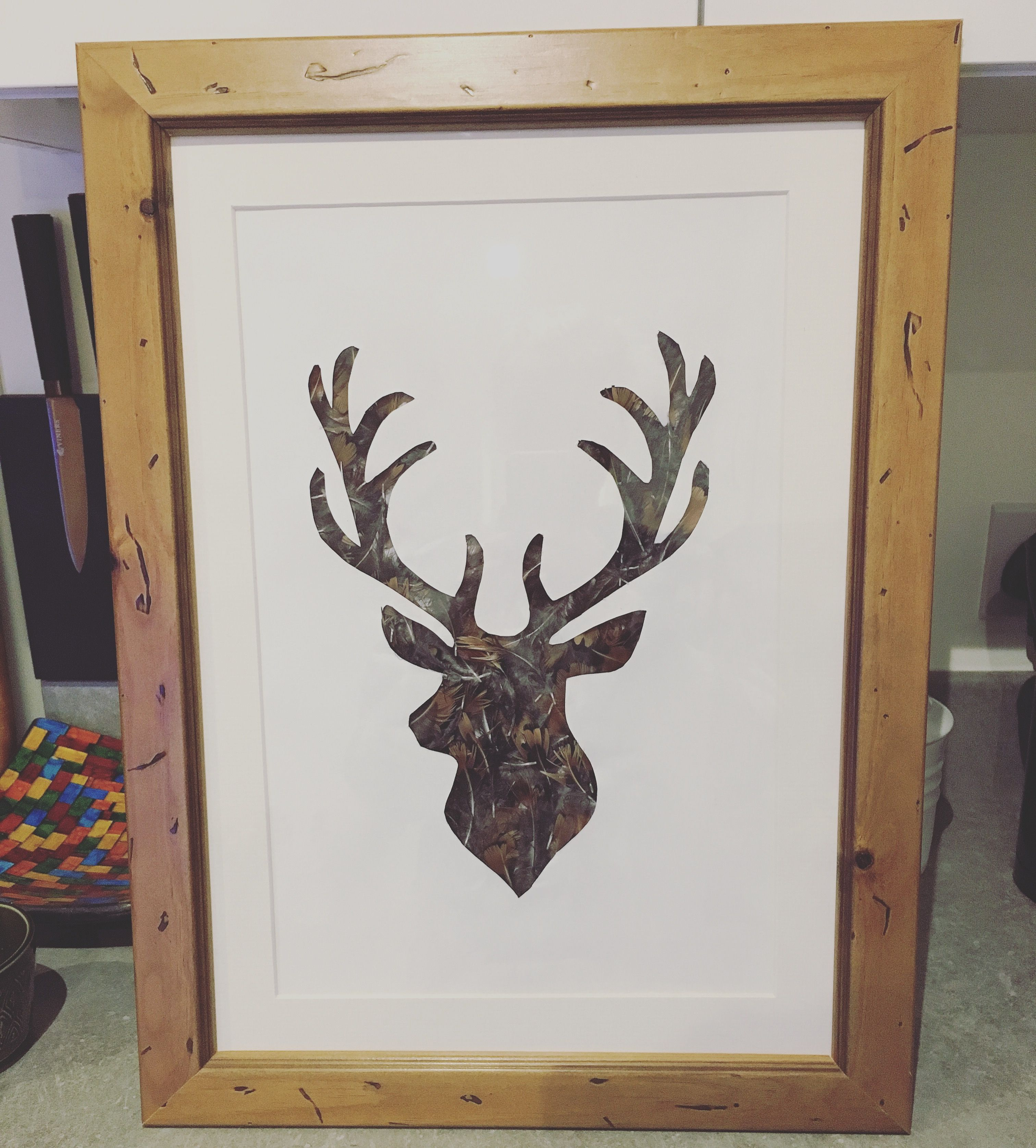 How to clean pheasant feathers - Pheasant Feathers Behind A Stag Cut Out Mounted And Framed