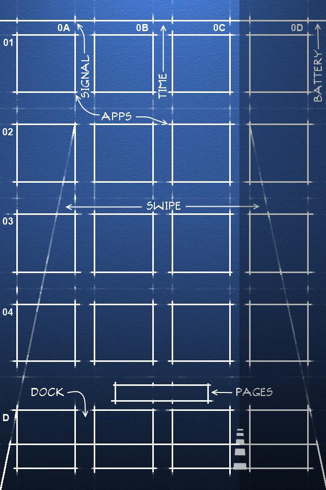 Iphone 4 Retina Blueprint Wallpaper 640x960 By