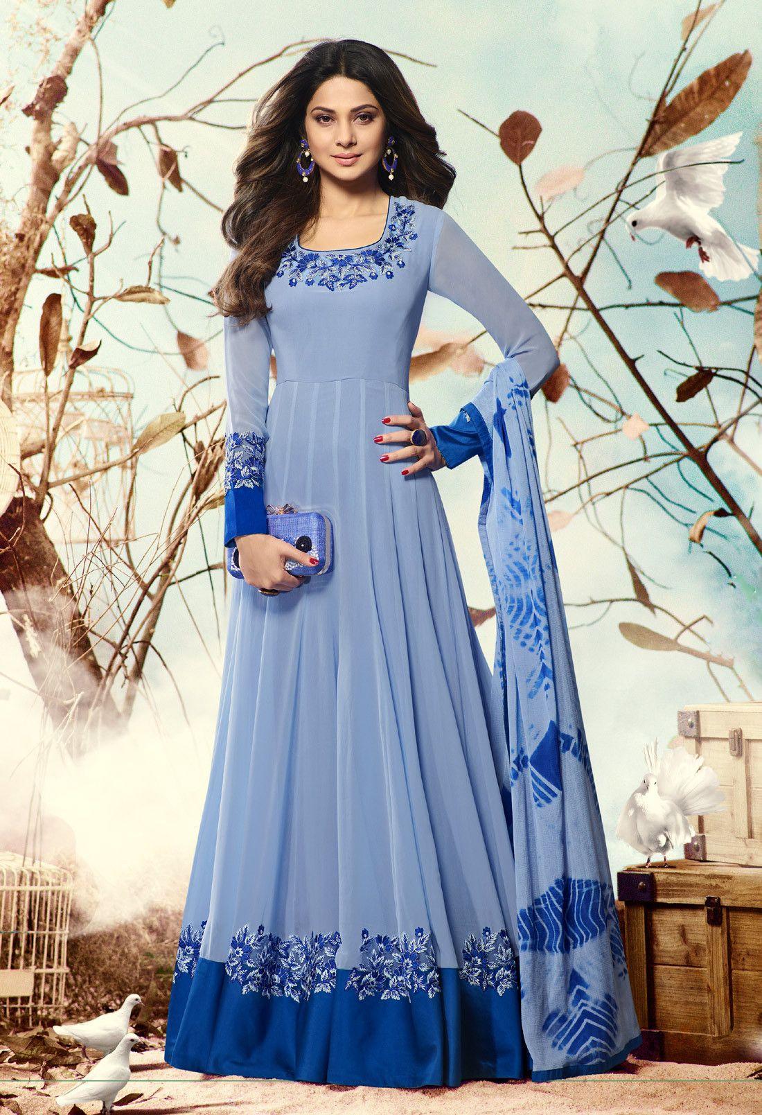 jennifer winget floor length dress | Designer dresses ...