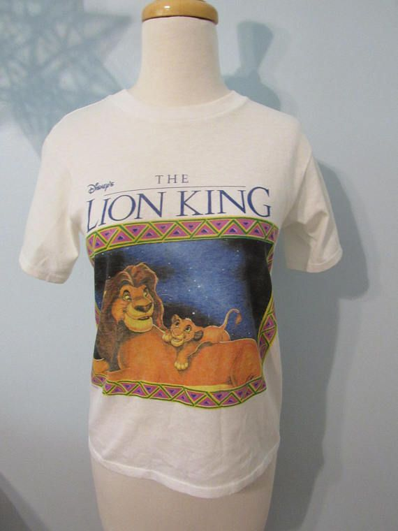 391200545084 Vintage 90s The Lion King T Shirt Simba Disney Rare Movie Memorabilia Tee  Shirt Size XS Small Promo 1994 T Shirt Grunge Collectible