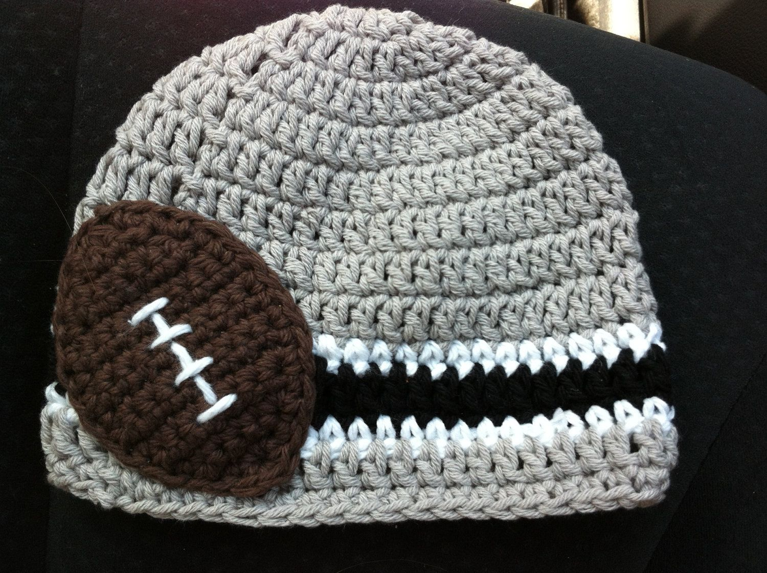 419e7bf893ae52 Crocheted Cotton Hat Inspired By Oakland Raiders' NFL Colors - Great Photo  Prop. $17.99, via Etsy.