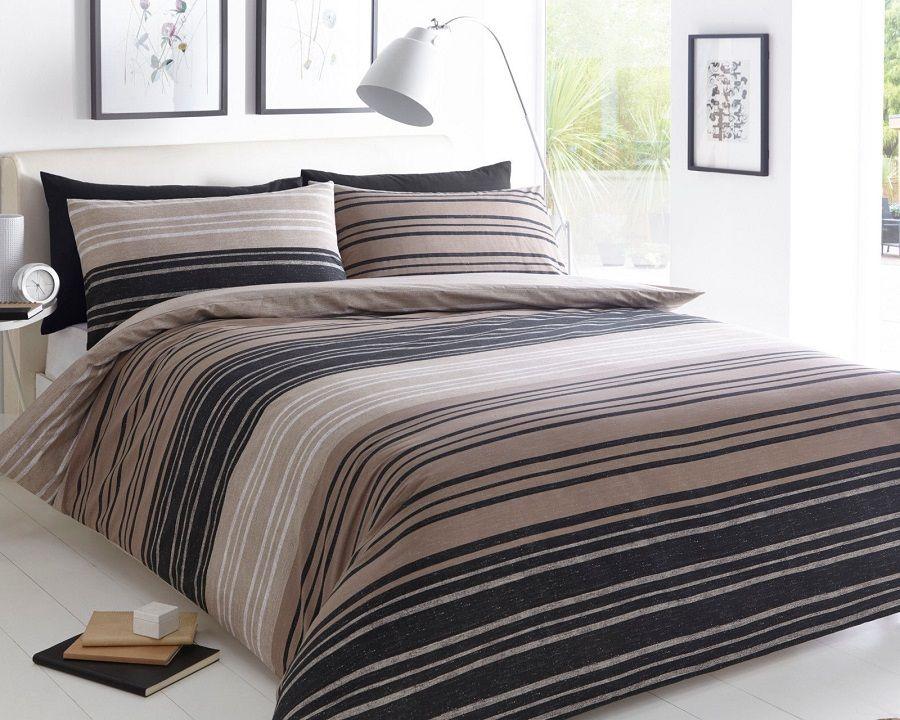 Texture Stripe Brown Duvet Quilt Cover Bedding Set Linen And Bedding Quilt Sets Bedding Brown Duvet Covers Duvet Sets