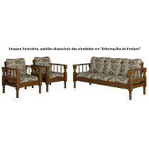 Sofa De Madeira E Almofadas | Sofá de madeira, Home ...