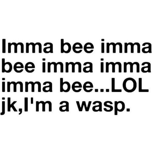 jk, i'm a wasp!