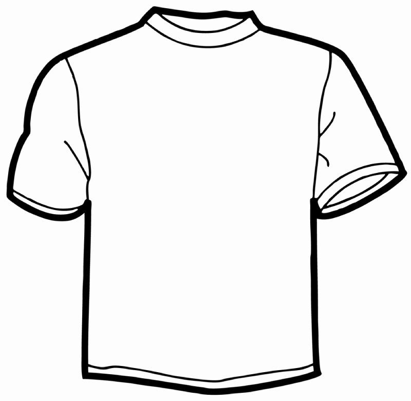 T Shirt Coloring Page Fresh T Shirt Image Template Clipart Best Coloring For Kids Coloring Pages Coloring Pages For Kids