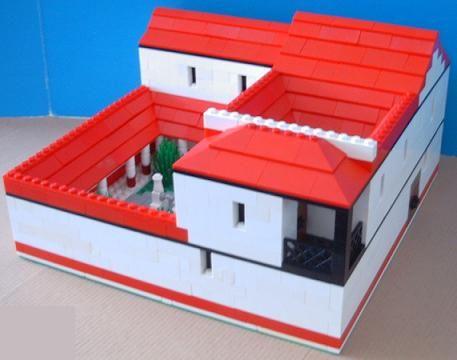Building a roman house model