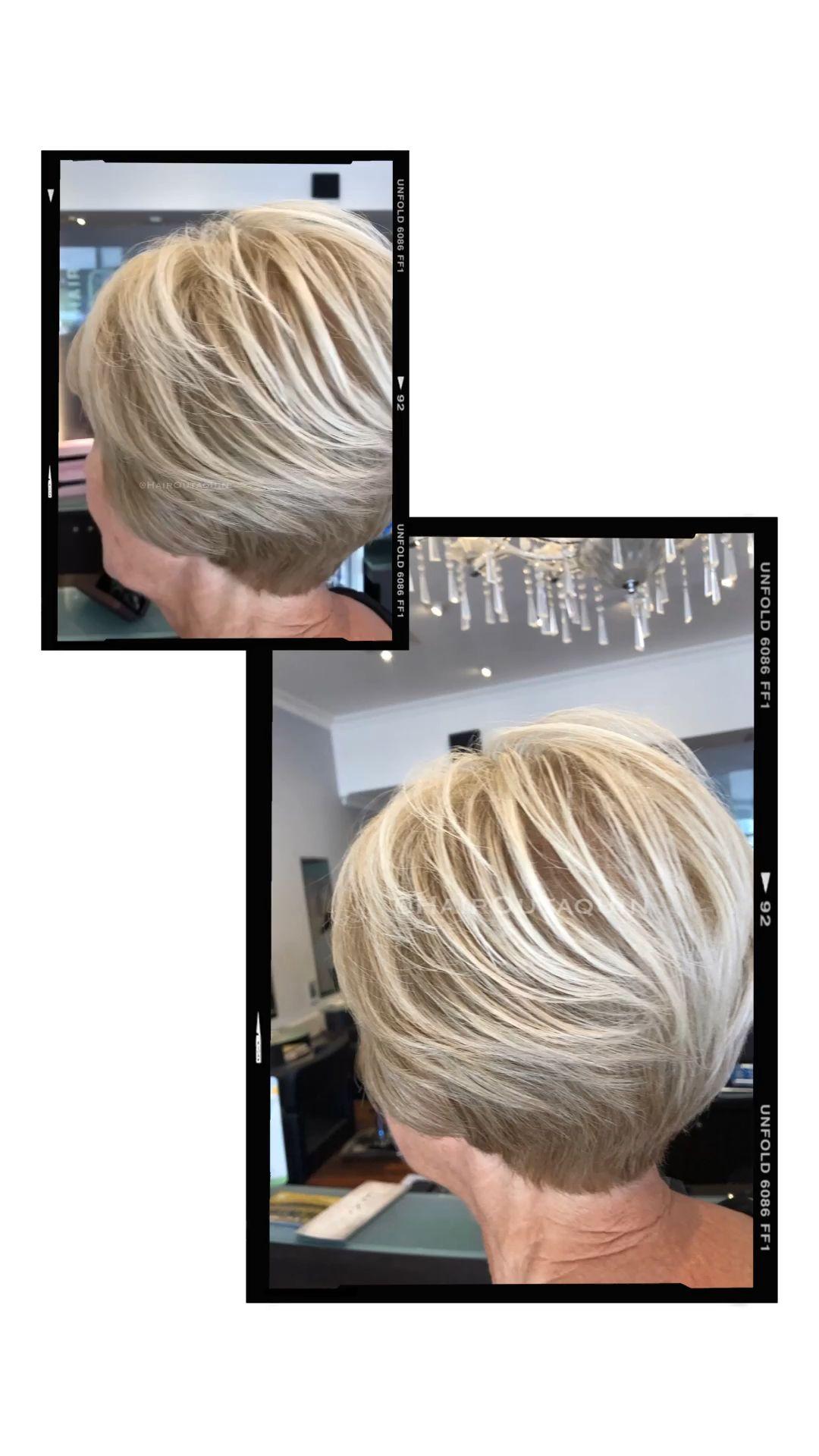 Short hair Blonde 👱🏻♀️