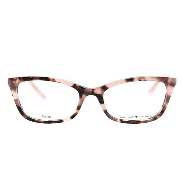 5910fb56da Kate Spade Women s KS Delacy RS3 Havana Rose Plastic 52mm Cat-Eye Eyeglasses