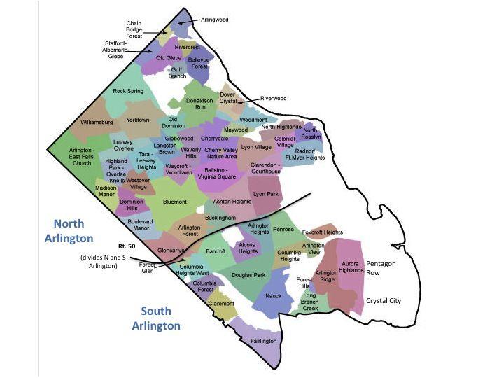 North Vs South Arlington Va Arlington Neighborhoods Washington