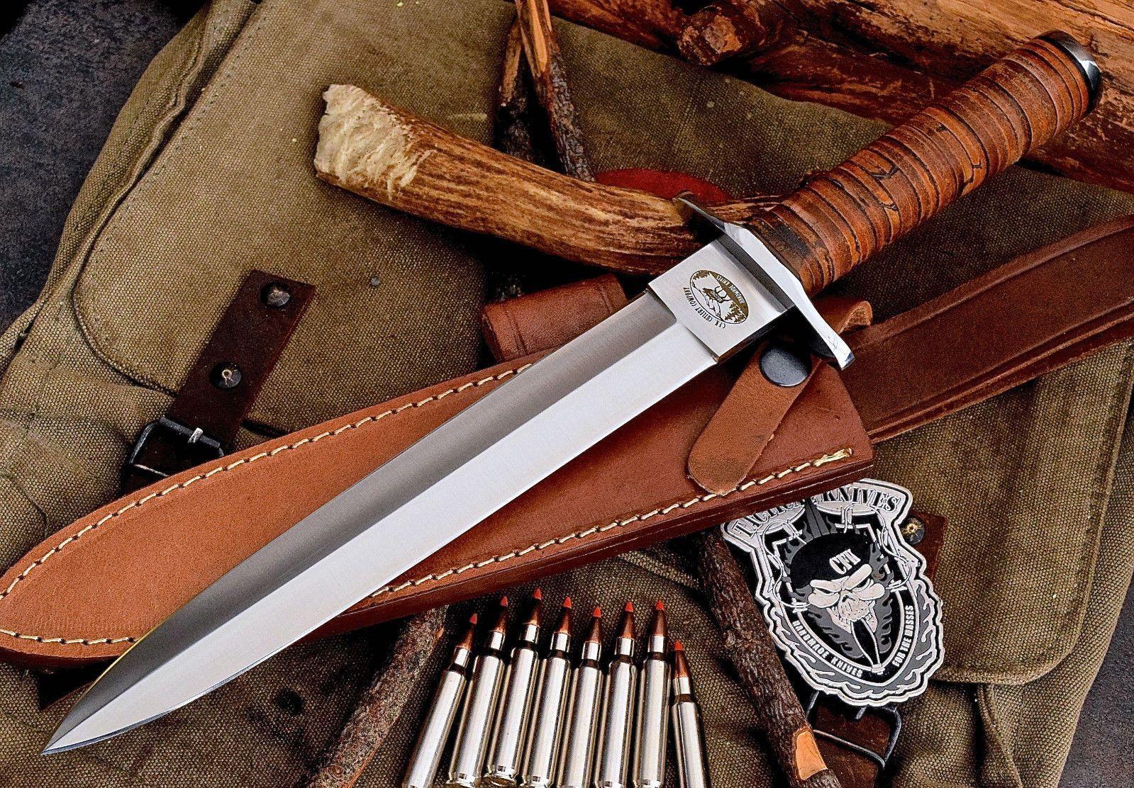 CFK USA Custom Handmade D2 Tool Steel US NAVY SEALS Combat Fighter Dagger Knife