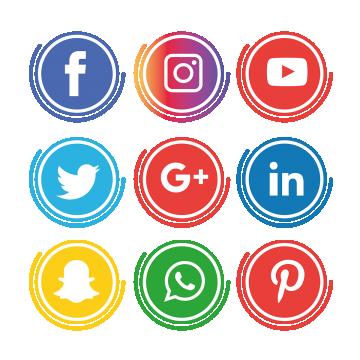 Social Media Icons Set Instagram Whatsapp, Social, Media