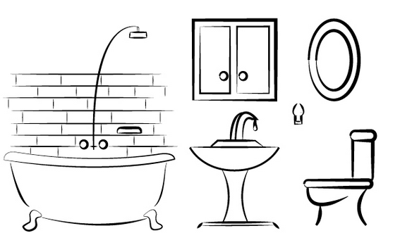 Modern And Clean Bathroom Coloring Page Page Design Coloring Pages Color