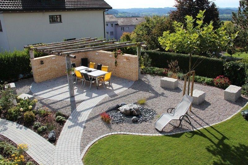 Garten Naturnah Gestalten Gartensitzplatz Kies Anlegen