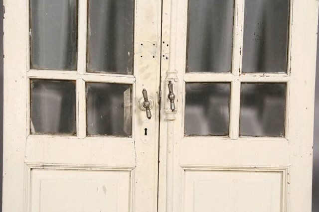 old french windows and doors | PAIR ANTIQUE FRENCH DOORS WITH ORIGINAL  HARDWARE C.1910 - Old French Windows And Doors PAIR ANTIQUE FRENCH DOORS WITH