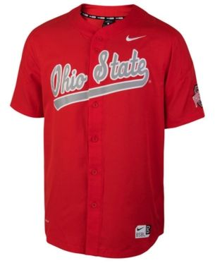 competitive price 780ec ec61e Nike Men's Ohio State Buckeyes Full-Button Vapor Elite ...