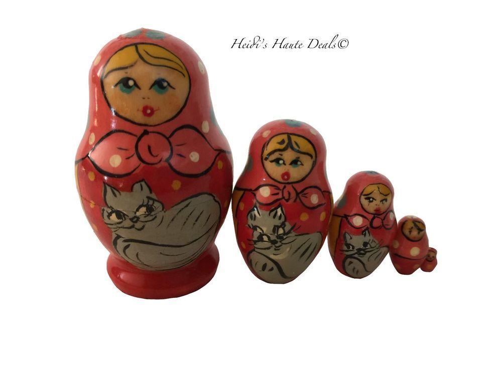 Matryoshka Matrioska Russian Nesting Doll Babushka Wonderful Wizard of Oz 5 pcs