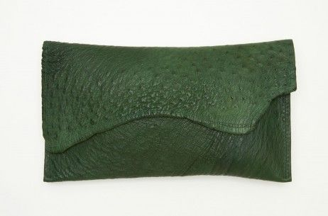 Deborah Barnet Cyprus Green Sauvage Clutch | The Dreslyn.Com