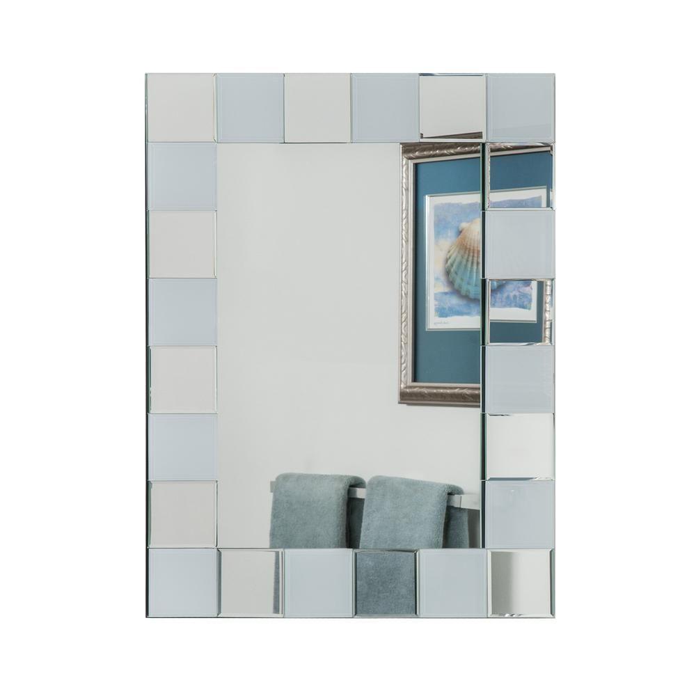 Glacier Bay 36 In W X 36 In L Beveled Edge Bath Wall Mirror