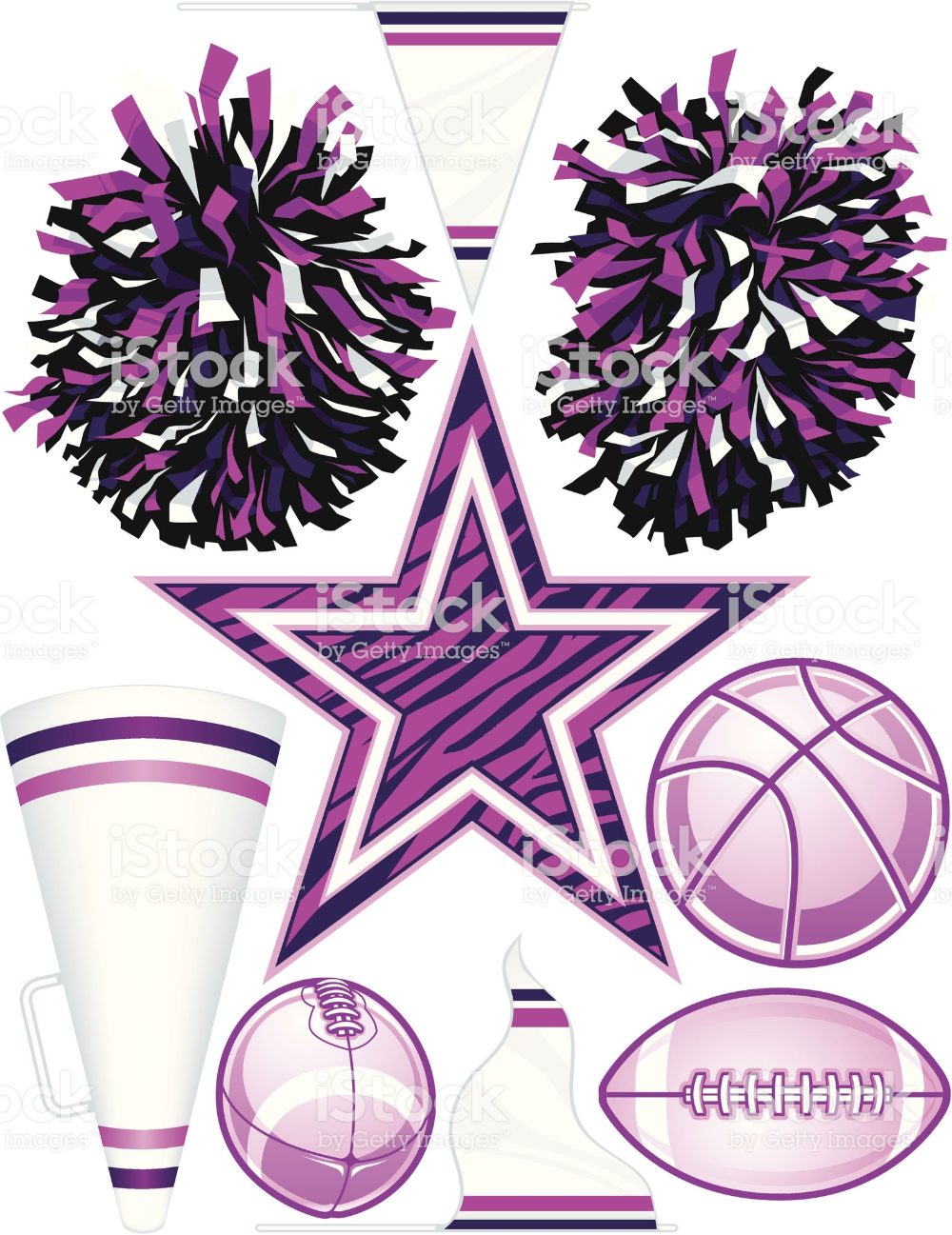 Collection Of Individually Grouped Vector Cheerleading Design Vector Free Free Vector Art Free Vector Graphics
