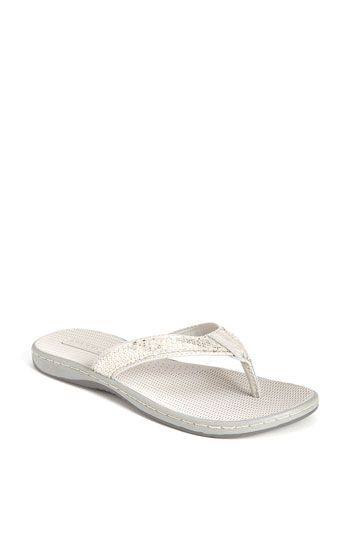 1d40dee270b3 cute sperry flip flops for the reception  Sperry Top Sider