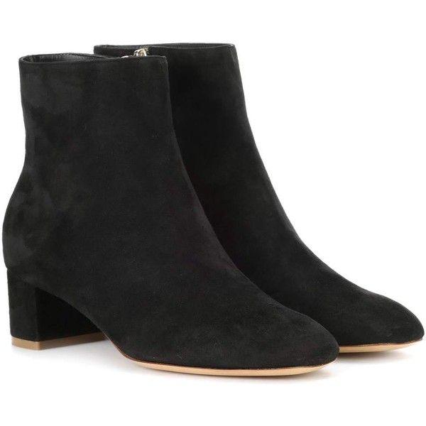Black Suede Ankle Boots Mansur Gavriel Sbulsn
