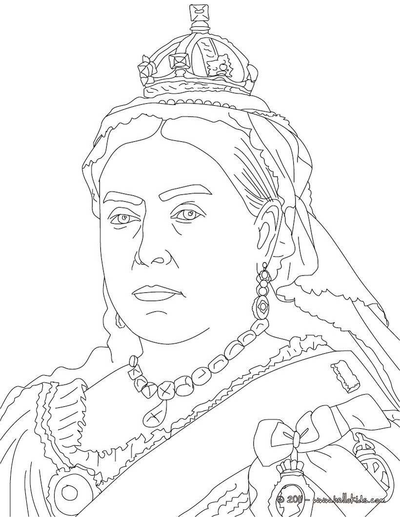 Queen Victoria Coloring Page Coloring Pages Coloring Books