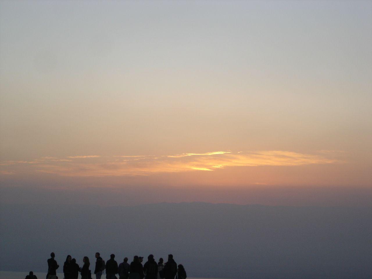 Sun rises in Metzada, Israel.