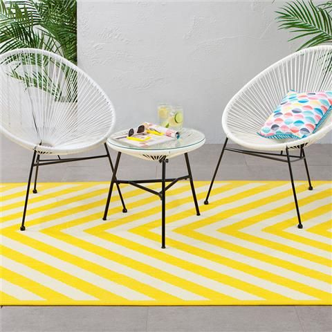 Wonderful Outdoor Rug   Chevron Print, Yellow | Kmart