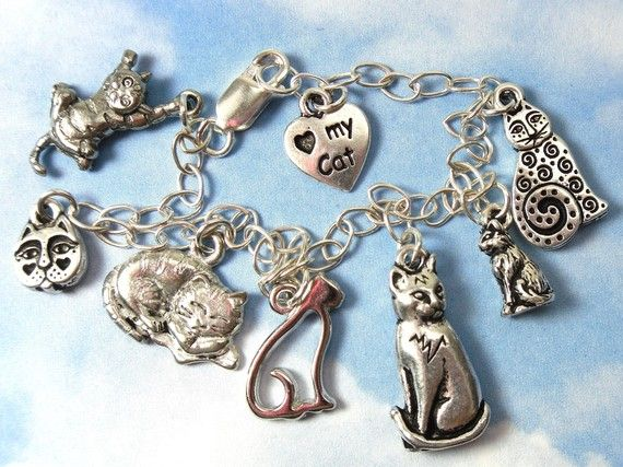 Cat Charm Charms for Bracelets and Necklaces