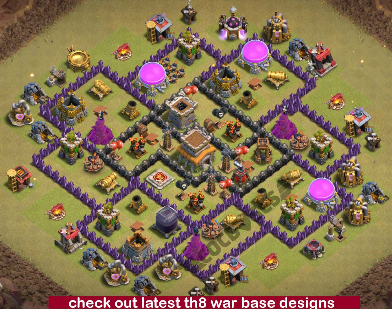500 Th8 War Base Links Ideas War Base Clash Of Clans