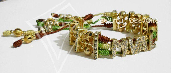Bracelet Mal Verde / Brasalete estilo mal verde